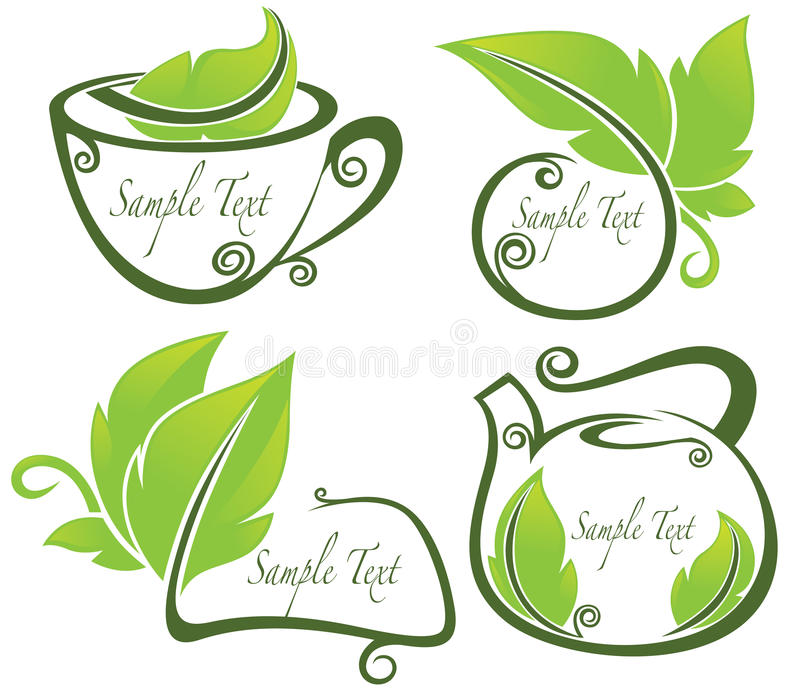 Vector Collection Of Eco Drink And Text Frames Ve Stock Illustration ...
