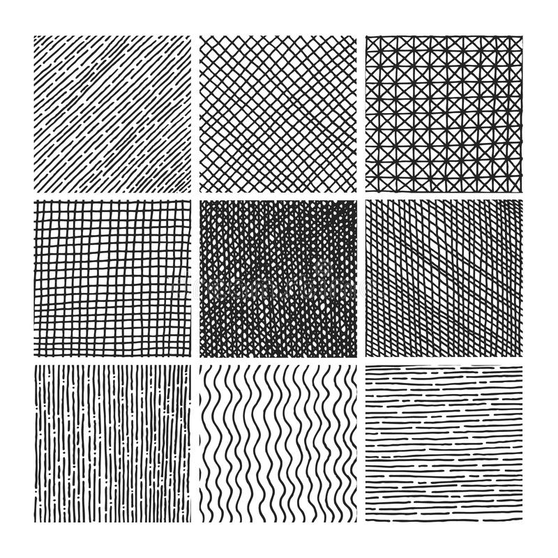 Free Vector Collection Ink Hand Drawn Hatch Texture Stock Image - 51022561