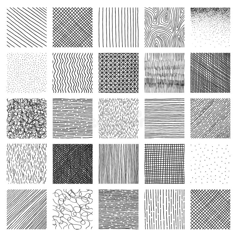 Free Vector Collection Ink Hand Drawn Hatch Texture Stock Photography - 51022632