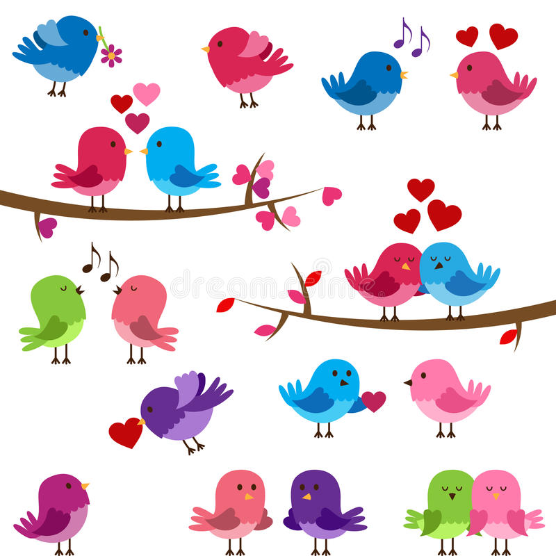 Free Vector Collection Of Cute Love Birds Stock Photo - 38563160