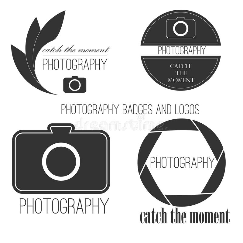 Vector collection of photography logo templates. Photocam logotypes. Photography vintage badges and icons. Modern mass media icons. Photo labels vector illustration
