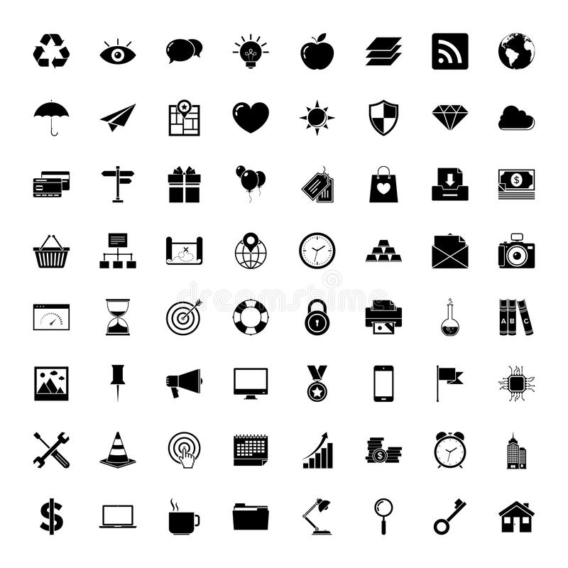 Universal outlined icons royalty free illustration