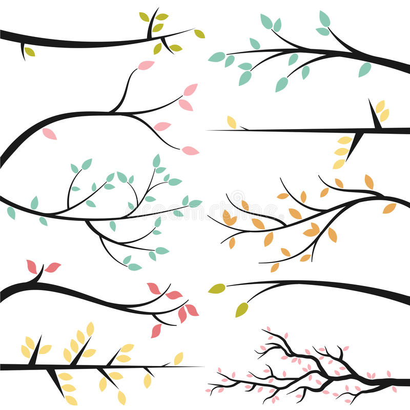 Vector Collection of Tree Branches vector illustration