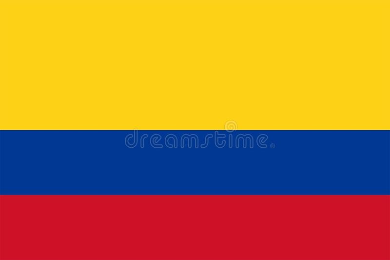 Colombia Flag. A vector of the Colombia flag vector illustration