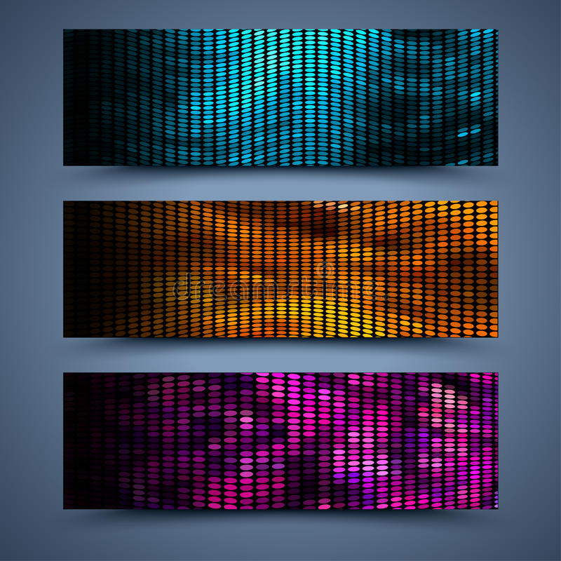 Color banners templates. Abstract backgrounds stock illustration