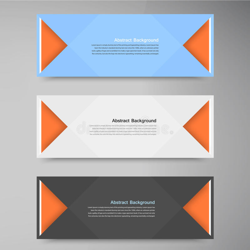 Vector color banners. Curve and paper origami. This is file of EPS10 format stock illustration