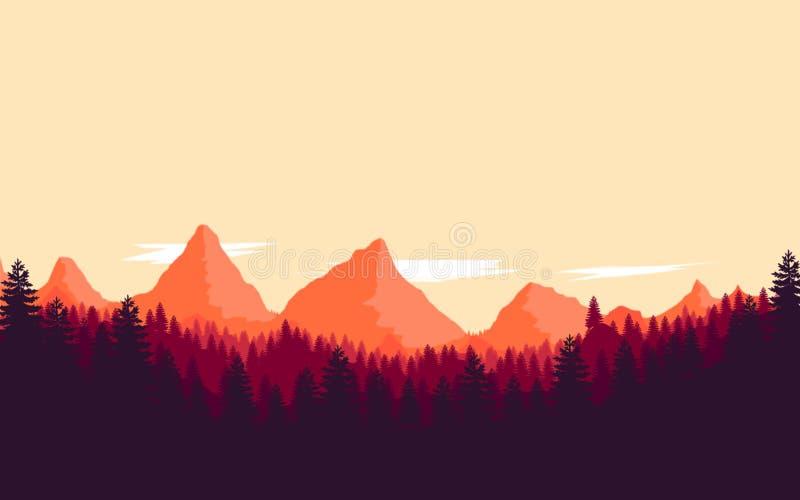 Vector color landscape background image stock photo