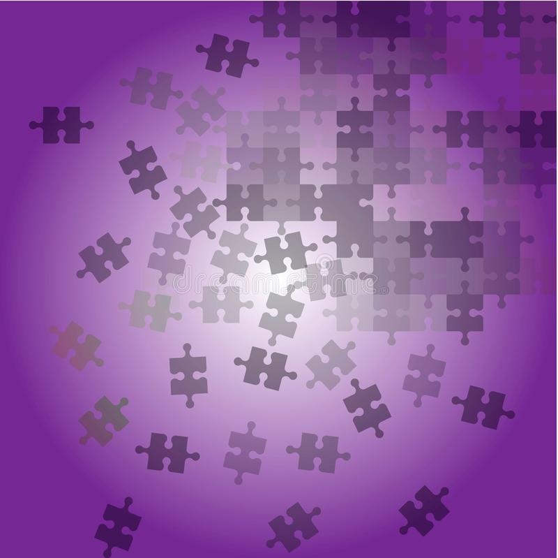 Abstract background with violet puzzle vector illustration