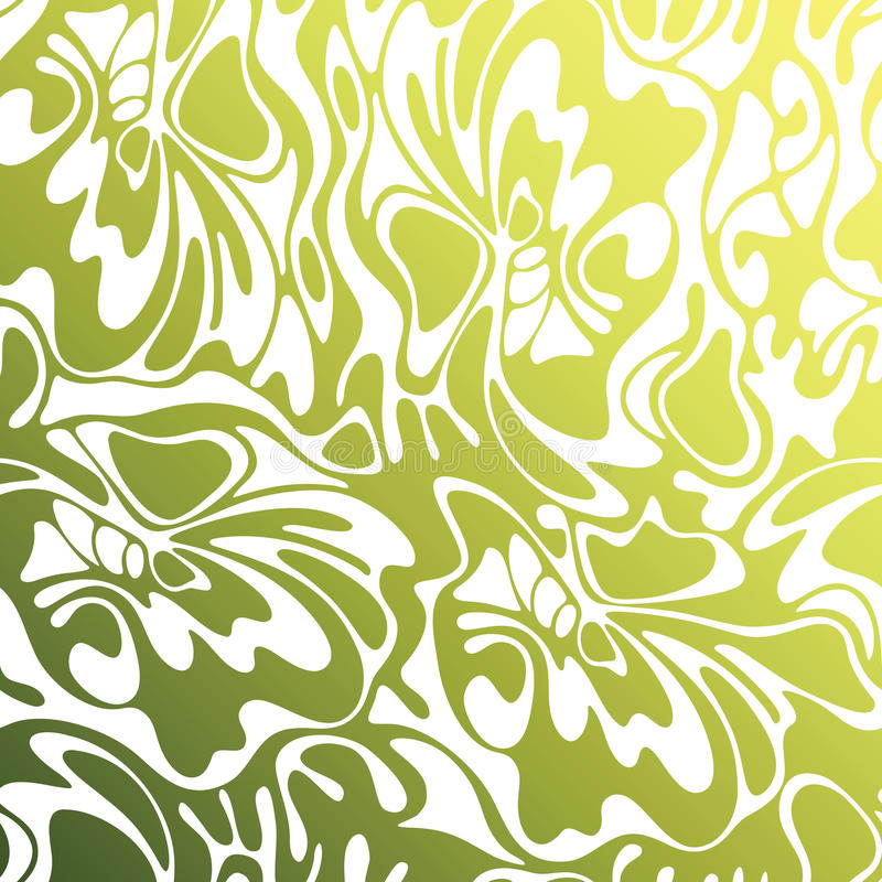 Vector color seamless swirl olive background. Green abstract flo. Ral texture vector illustration