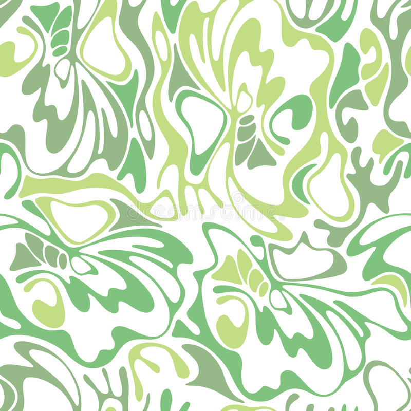 Vector color seamless swirl olive grass background. Green abstract floral texture. vector illustration