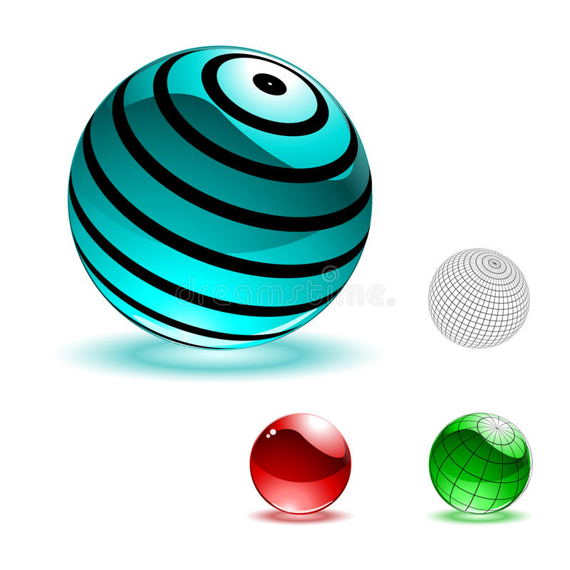 Vector Color Shiny Spheres Stock Photography