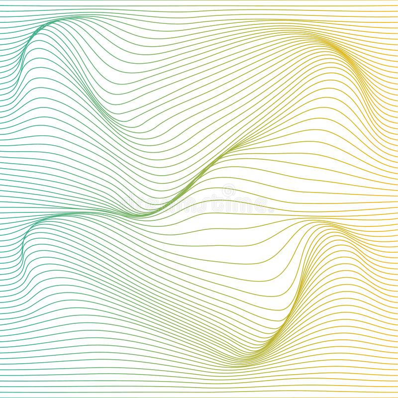 Vector color stripe deformation background. vector illustration