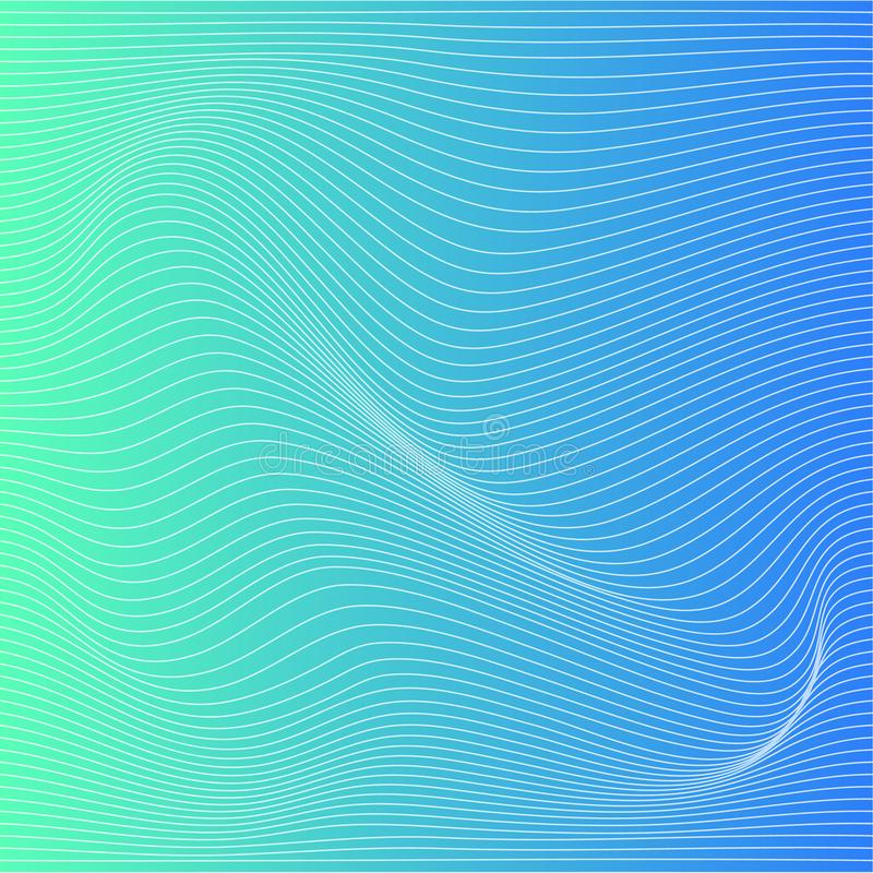 Vector color stripe deformation background. stock illustration