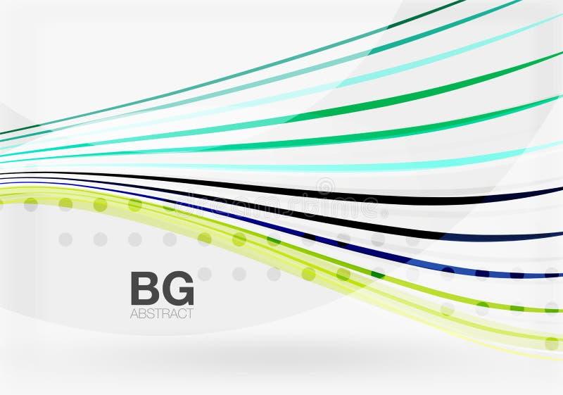 Vector color stripes, wave lines modern geometric background. Vector template background for workflow layout, diagram, number options or web design vector illustration