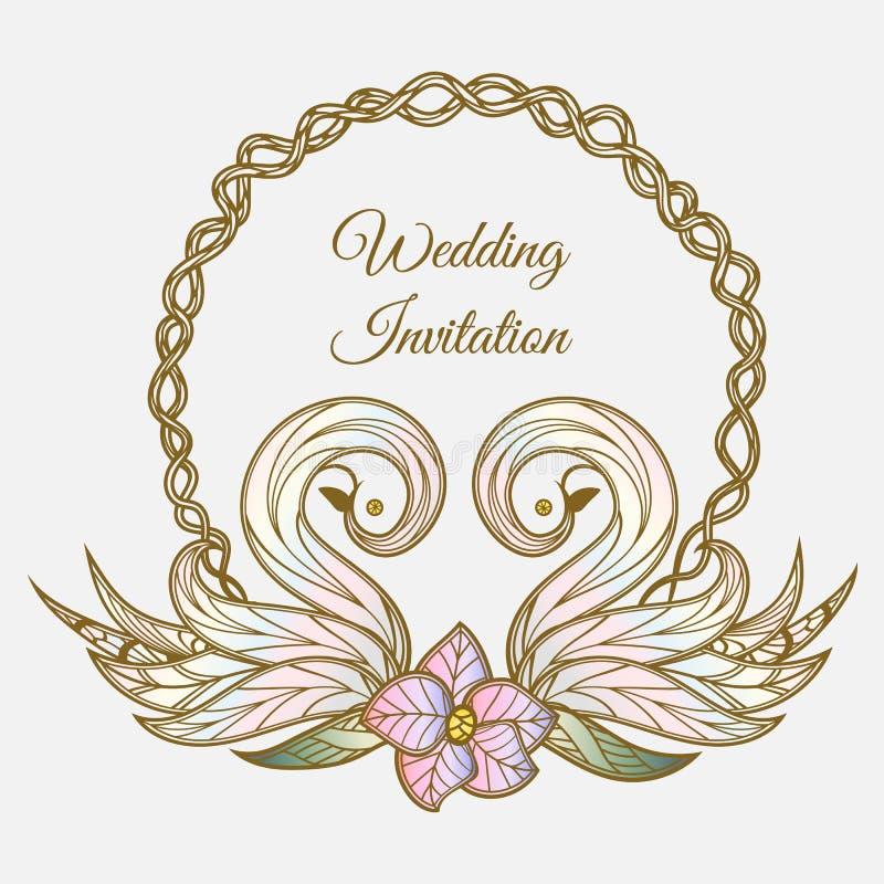 Vector color wedding invitation stock vector illustration of download vector color wedding invitation stock vector illustration of celebration ornament 110317613 stopboris Choice Image