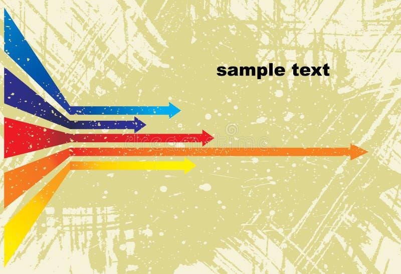 Vector coloreado de las flechas ilustración del vector