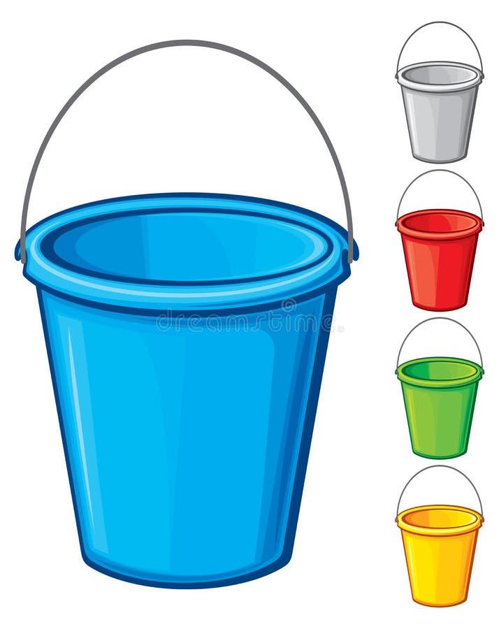 Buckets stock illustration