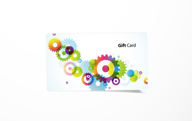 Vector colored business card. vector illustration