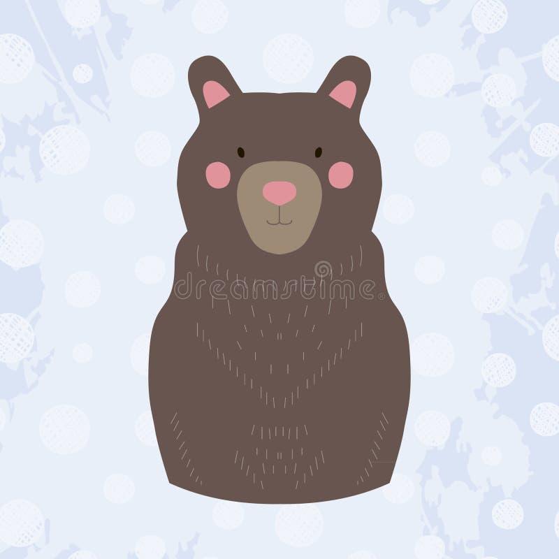 Vector colored cartoon bear stock illustration