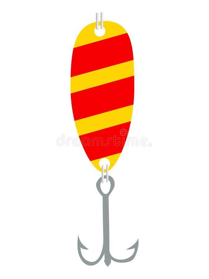 Free Vector, Colored Illustration Of Fishing Lure Royalty Free Stock Image - 182290926