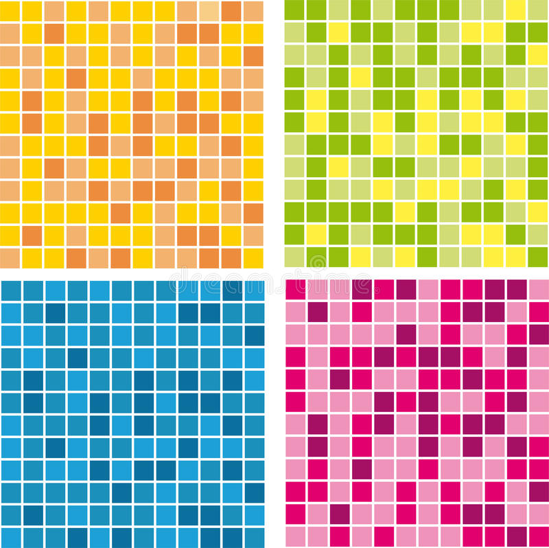 Vector colored pattern wall mosaics stock photography