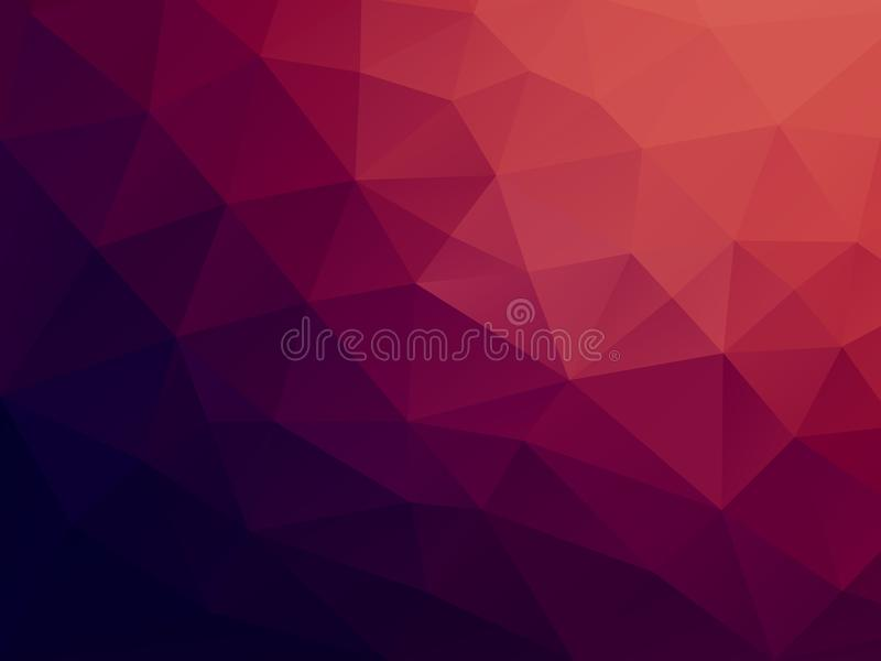 Vector Colored Polygon Background - Low Poly Background royalty free stock photo
