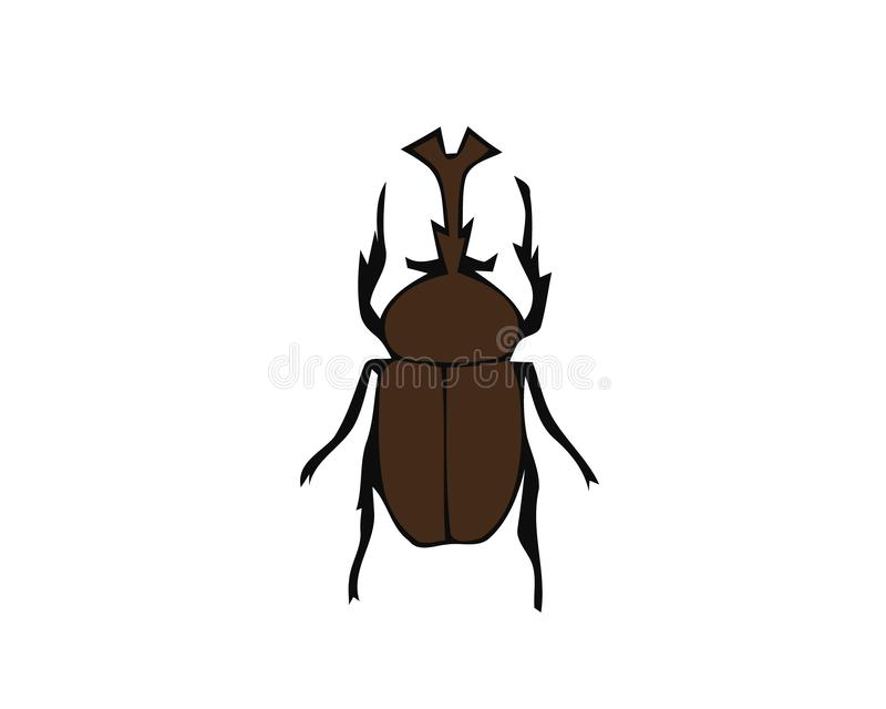 Vector colored stag beetle icon isolated on white background. Colored cartoon style insect illustration. Bug logo vector illustration