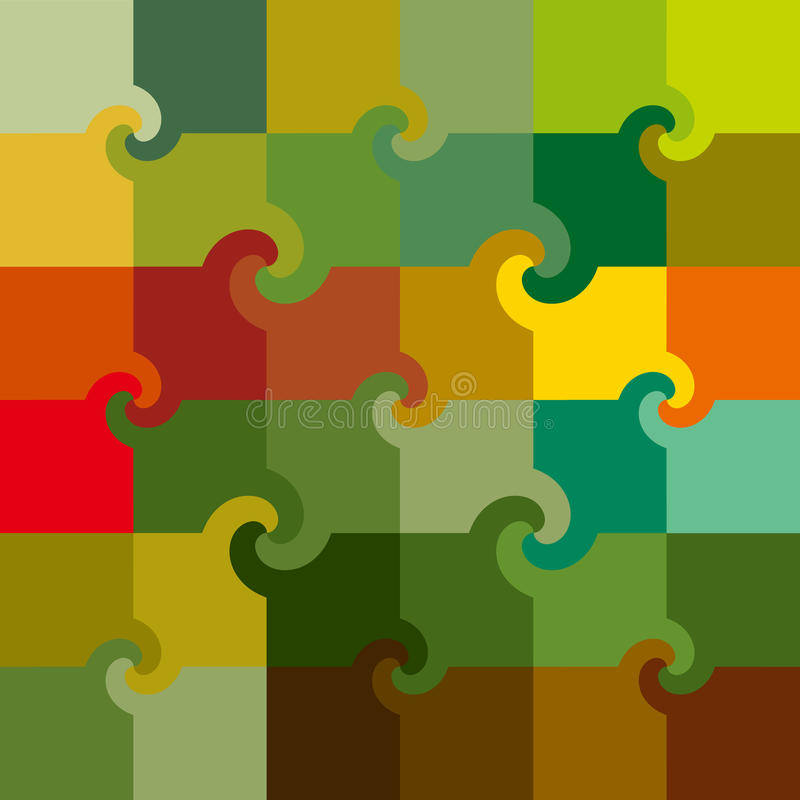 Free Vector Colored Swirl Squares Pattern Royalty Free Stock Images - 14829509
