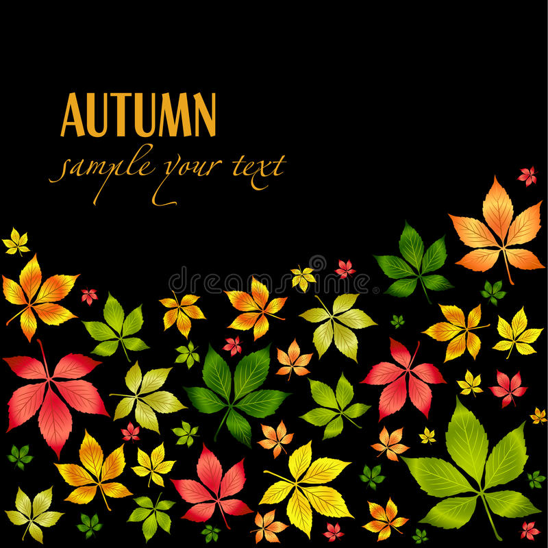 Download Vector Colorful Autumn Leafs .Autumn Background Royalty Free Stock Photos - Image: 11416578