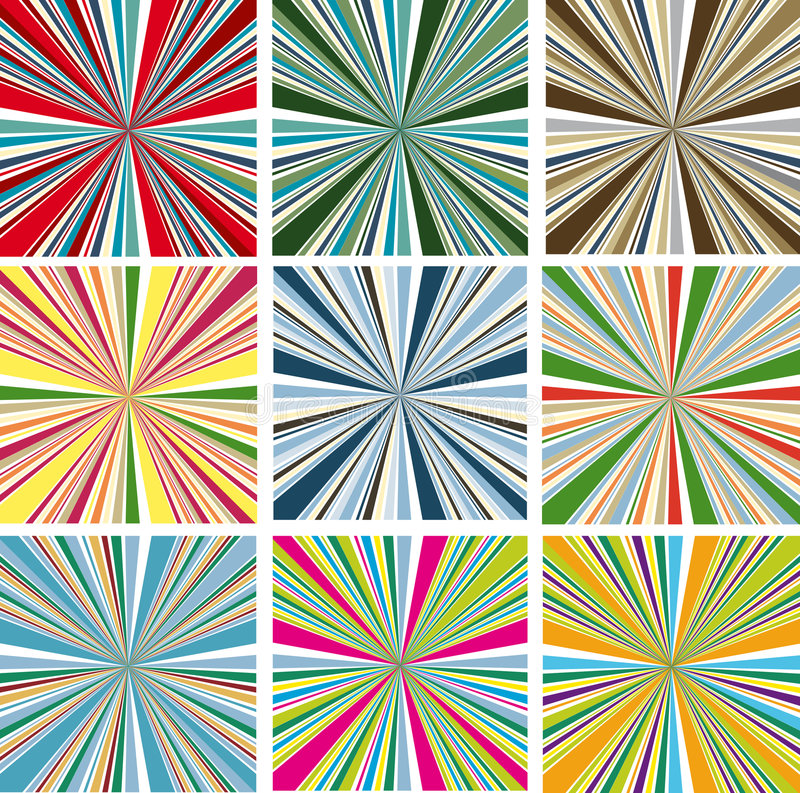 Vector colorful backgrounds stock illustration
