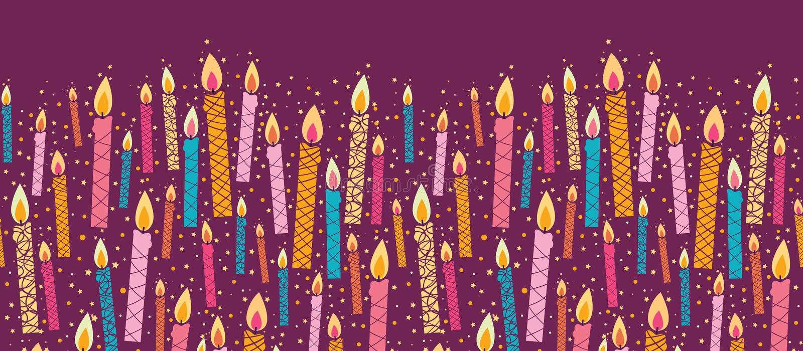 Vector Colorful Birthday Candles Horizontal Stock Images ...