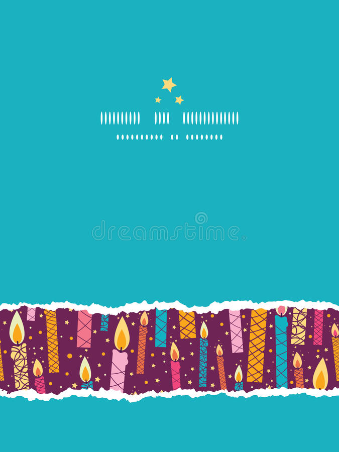 vector colorful birthday candles vertical torn stock