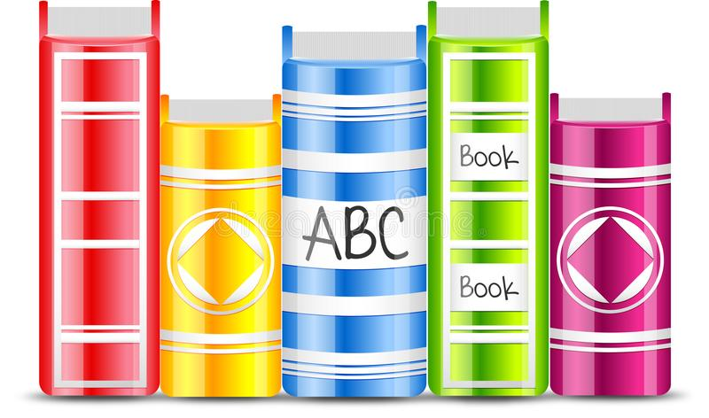 Vector Books with colorful elements vector illustration
