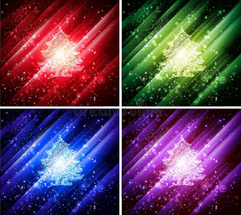 Download Vector Colorful Christmas Backgrounds Stock Vector - Image: 17493733