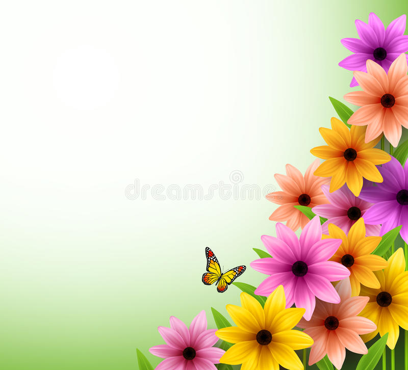 Vector Of Colorful Flowers Background For Spring Season