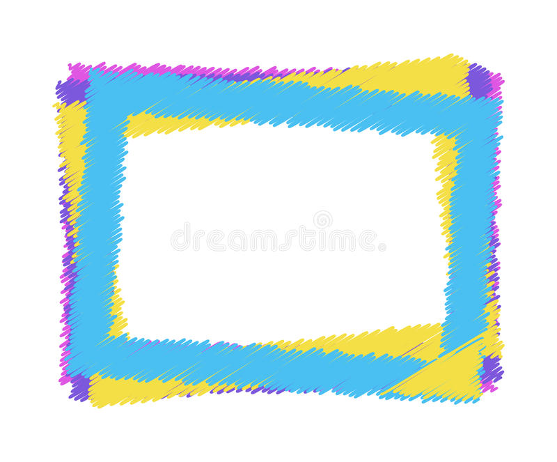 Vector colorful frame vector illustration