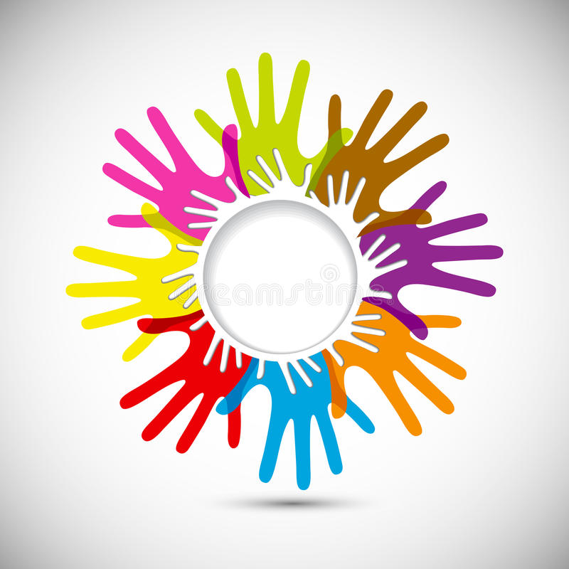 Download Vector Colorful Hands stock vector. Image of graphic - 29535436