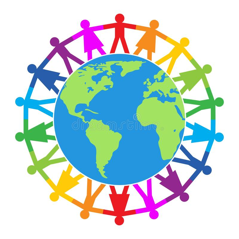 Free Vector Colorful Illustration Of People Around The World Royalty Free Stock Photography - 162616557