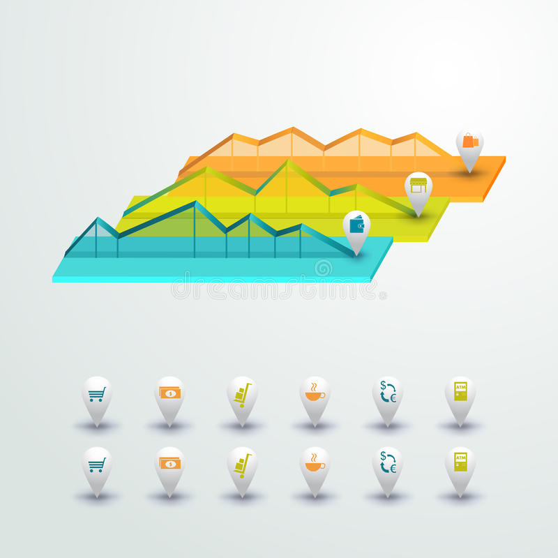 Vector colorful infographic for business presentations. Can be used for report, presentation, banner, website booklet or brochure. Layout. Vector, numbered royalty free illustration