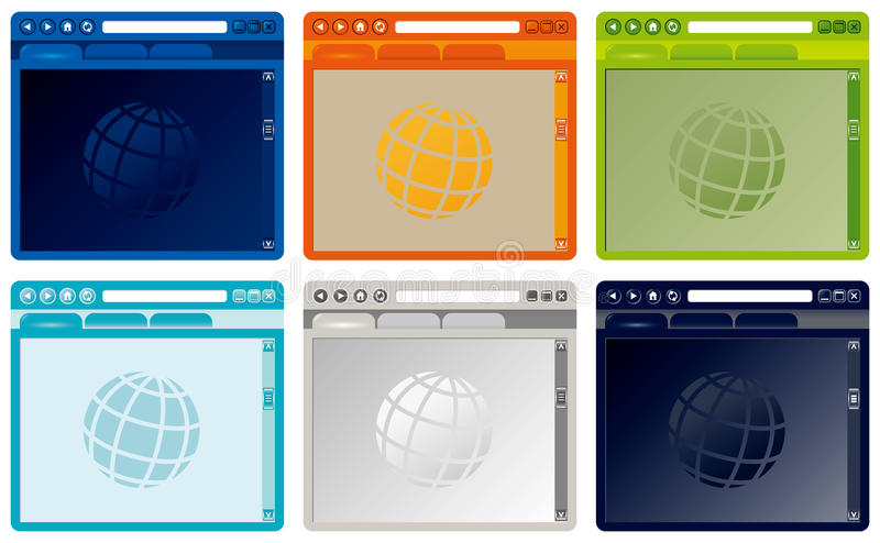 Download Vector Colorful Internet Browser Stock Vector - Image: 21259741