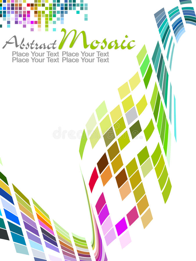 Vector colorful mosaic pattern design stock photo