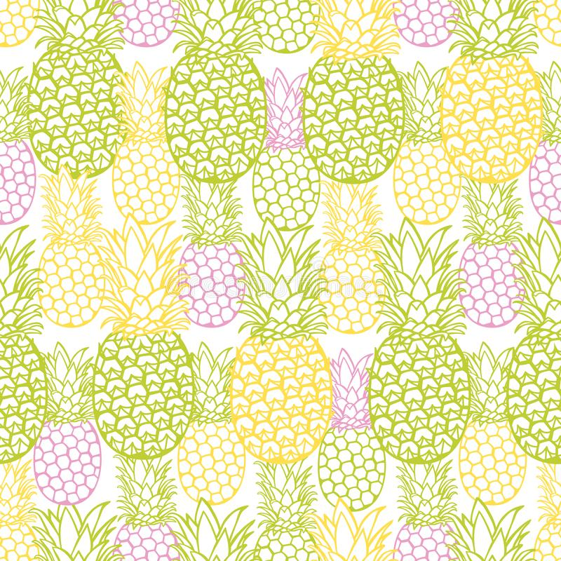 Vector colorful pineapple texture repeat pattern. Suitable for gift wrap, textile and wallpaper. Surface pattern design vector illustration