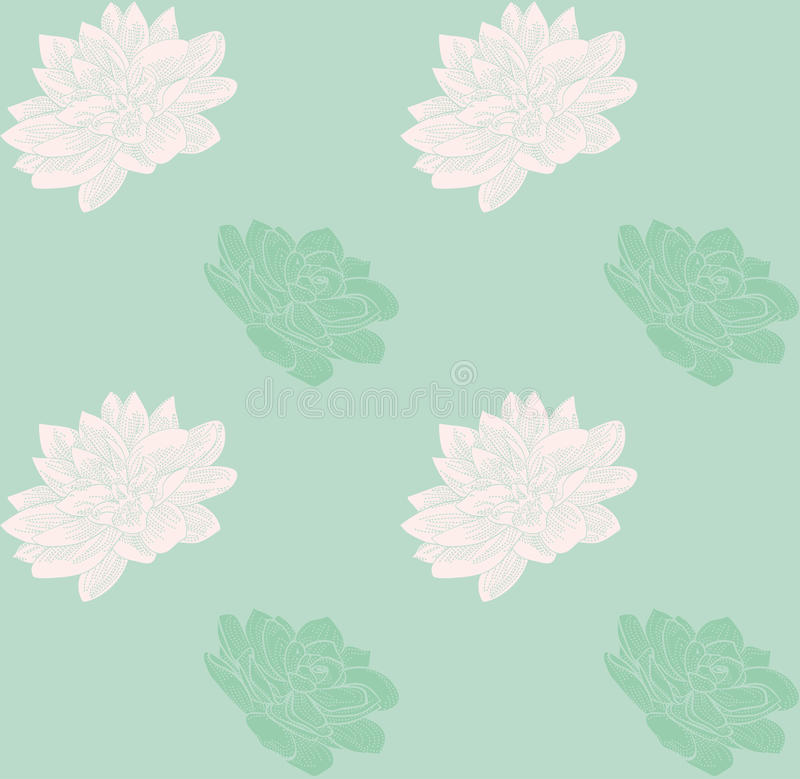 Vector Colorful Seamless Pattern with Drawn Flowers. vector illustration