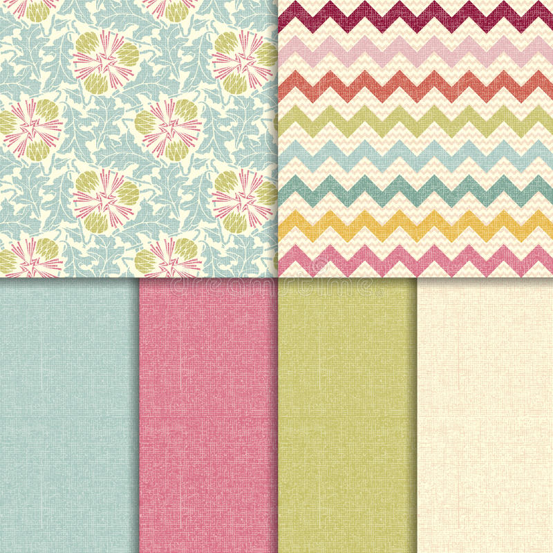 Free Vector Colorful Seamless Patterns Royalty Free Stock Photo - 37663615
