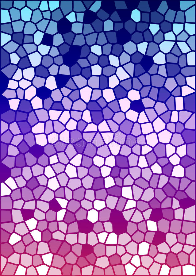 Vector colorful stained glass texture. 1 royalty free illustration