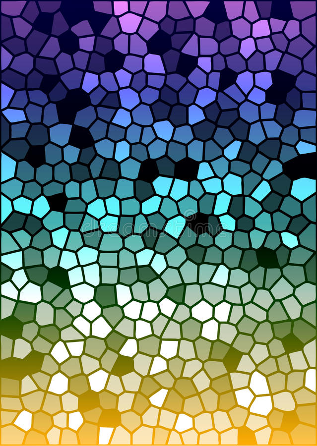 Vector colorful stained glass texture royalty free illustration