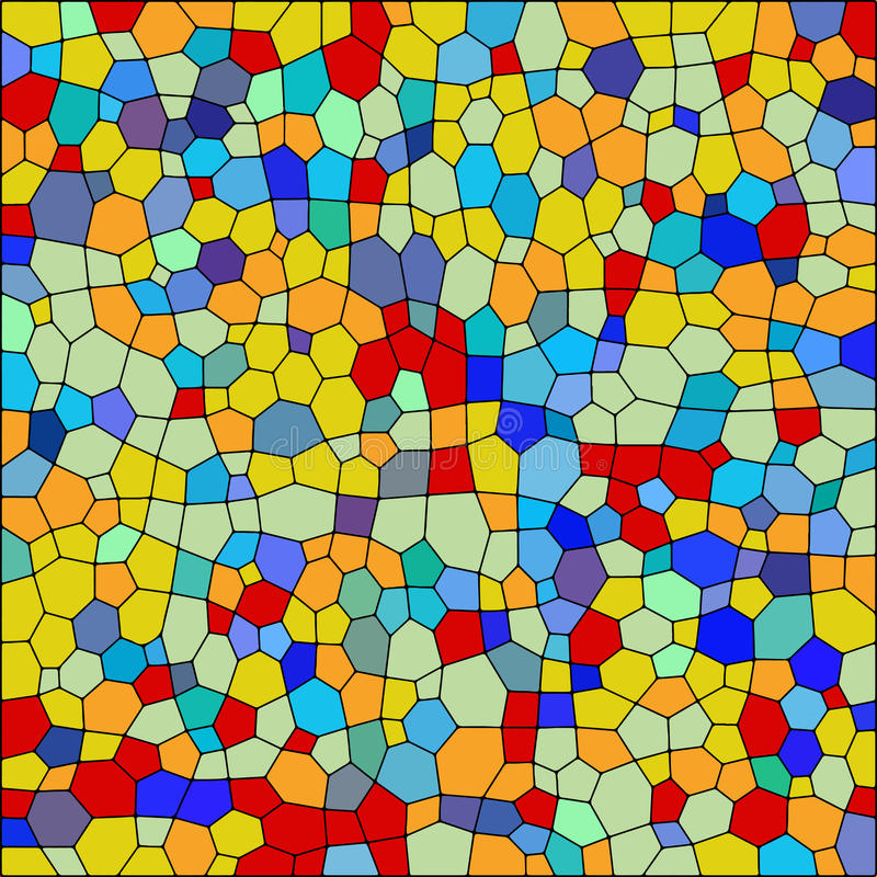 Vector Colorful Stained Glass Texture Stock Illustration