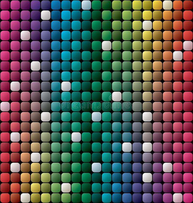 Free Vector Colorful Tile Mosaic Background Royalty Free Stock Images - 45678949