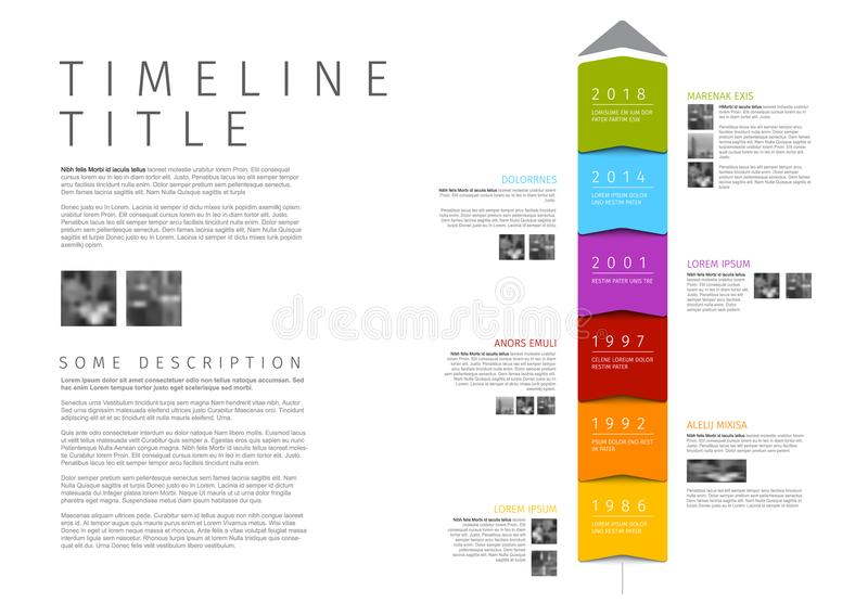 Vector colorful vertical Infographic timeline report template vector illustration