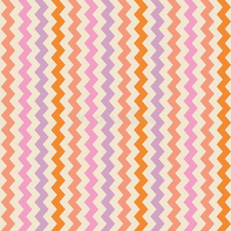 Vector colorful zig zag background royalty free illustration